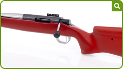 The Ranger is a genuine left-handed hunting rifle